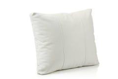 Cuscino del cuoio bianco immagini stock