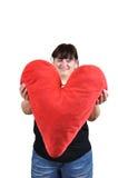 Cuscino del cuore Immagini Stock