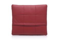 Cuscino di cuoio rosso Fotografia Stock