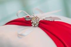 Cuscino di nozze Fotografie Stock