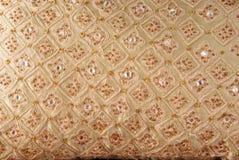 Cuscino fissato gioiello ricamato Fotografia Stock Libera da Diritti