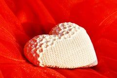Cuscino a forma di del cuore Immagini Stock Libere da Diritti