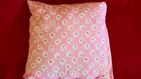 Cuscino rosa Immagini Stock