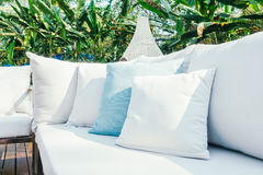 Cuscino sul sofà Fotografia Stock