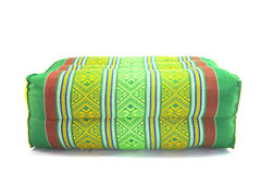 Cuscino tailandese isolato su bianco Fotografia Stock
