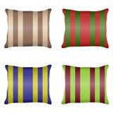 Cuscino, un insieme dei cuscini a strisce illustrazione di stock