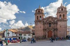 Cusco, Περού - τον Ιούνιο του 2015 circa: Εκκλησία και Plaza SAN Pedro Αγίου Peter σε Cusco, Περού Στοκ φωτογραφία με δικαίωμα ελεύθερης χρήσης