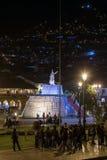 Cusco, Περού - τον Ιούνιο του 2015 circa: Plaza de Armas δήμαρχος και Haukaypata σε Cusco, Περού τή νύχτα Στοκ φωτογραφία με δικαίωμα ελεύθερης χρήσης