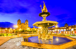 Cusco, Περού - Plaza de Armas Στοκ εικόνες με δικαίωμα ελεύθερης χρήσης