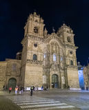 Cusco, Перу - около июнь 2015: Базилика собора предположения девственницы или Санто Доминго на Площади de Armas в Cusco, в Стоковое Изображение