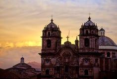 cusco Перу церков Стоковая Фотография