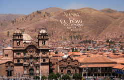 View of Cusco. View of the centre of Cusco city with the Cathedral, Peru Stock Photography