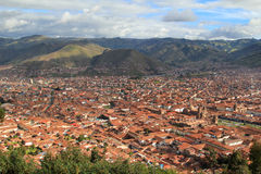 Cusco. The plain where  stands the city of Cusco, Peruvian Andes Royalty Free Stock Image