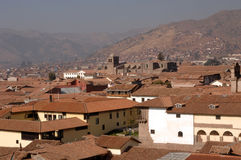 Cusco. View on a sunny day stock photos