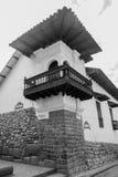 Cusco architektura w Czarny I Biały Obraz Royalty Free