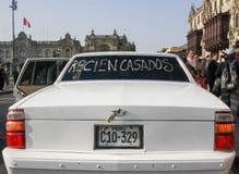 Cusco bröllop arkivfoton