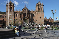 Cusco cathedral Royalty Free Stock Photos