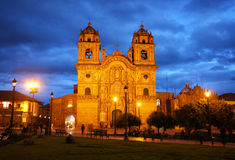 Cusco cathedral in Peru Stock Photo