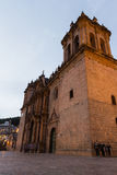 Cusco Cathedral after sundown Royalty Free Stock Photography