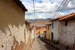 Cusco city streets Peru. This image shows the city streets of Cusco, Peru Stock Image