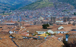 Cusco cityscape. View of the Peruvian city of Cusco the former capital of the Incan empire and unesco world heritage site Royalty Free Stock Images