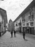 Cusco Czarny I Biały Zdjęcia Stock