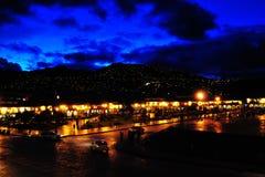 Cusco di notte Fotografie Stock Libere da Diritti
