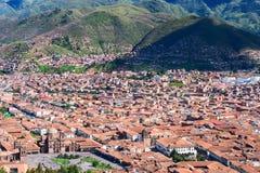 Cusco i Peru Arkivfoton