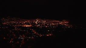 Cusco la nuit, Pérou banque de vidéos
