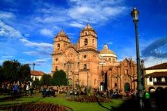 Cusco, le Pérou, le 6 mai 2018, la basilique de cathédrale de l'acceptation de la Vierge ou la cathédrale de Cusco image stock
