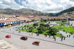 Cusco. Mainsquare in the city of Cusco, Peru royalty free stock photo