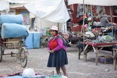 Cusco Market Woman stock photo
