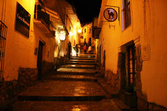 Cusco by night Royalty Free Stock Photos