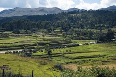 Cusco Outskirts Area. Cusco Region Outskirts Area around the City Stock Photo