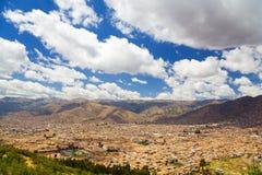 Cusco overlook stock photo