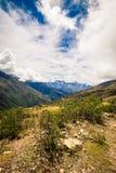 Cusco Pérou de sentier de randonnée photographie stock libre de droits