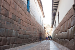 Cusco, Peru. THis image shows the streets of Cusco, Peru royalty free stock image