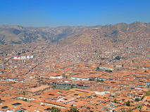 Aerial view of Cusco, Peru. Amazing view of Cusco, Peru Stock Photo
