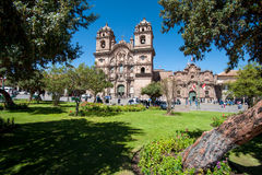 Cusco - Peru. Cathedral. Plaza de Armas. Cusco-Peru Royalty Free Stock Photos