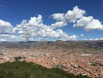 Cusco Peru. City in Peru on a cloudy afternoon Stock Images