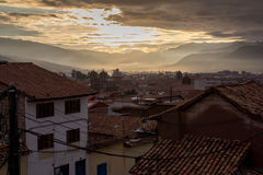 Cusco, Peru. Is the home to a rich cultural history, spanning from the capital of the ancient Incan empire, to the Spanish conquistadors, all the way to modern Royalty Free Stock Photo