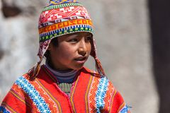 Native of Cusco royalty free stock photography