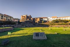 Cusco, Peru - July 31, 2017: Church of Santo Doming in the old t. Cusco, Peru - July 31, 2017: The Church of Santo Doming in the old town of Cusco, Peru royalty free stock photos