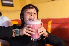 Traditional drink of Peru royalty free stock image