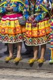 CUSCO - PERU - JUNE 06, 2016 : Peruvian dancers at the parade in Stock Image