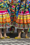 CUSCO - PERU - JUNE 06, 2016 : Peruvian dancers at the parade in Royalty Free Stock Photo