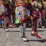 CUSCO - PERU - JUNE 06, 2016 : Peruvian dancers at the parade in Royalty Free Stock Image