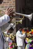 CUSCO - PERU - JUNE 06, 2016 Unknown musicians of a brass band o Stock Photography