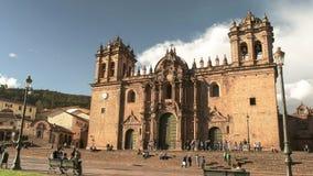 CUSCO, PERU 20. JUNI 2016: Nachmittagsansicht der Kathedrale von cusco stockfoto