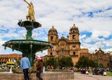 Cusco, Peru. The main square in Cusco, Peru Royalty Free Stock Image